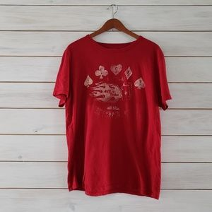 Lucky Brand size large graphic tee Ace of Spades